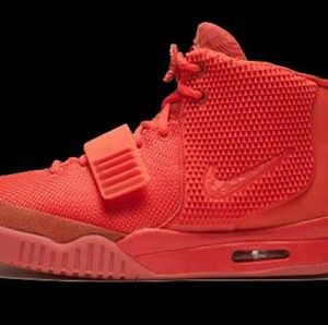 810e59afc1209 Nike. Authentic Nike Air yeezy 2 red October size 9.5